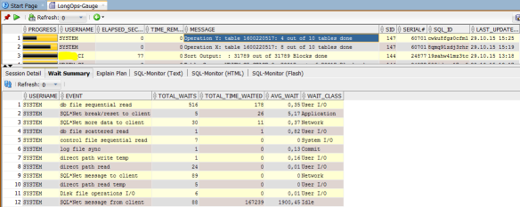 Reporting Long Running Operations in SQL Developer